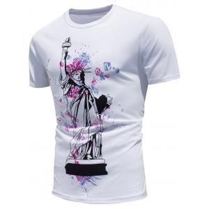 Statue of Liberty Print Color Changing T-shirt