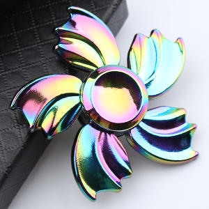 Fidget Toy Colorful Fish Fin Metal Hand Spinner - Colorful - 6*6*1.5cm