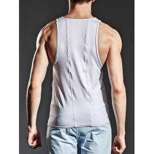 Fitted Stretchy Suture Tank Top -