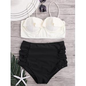 Ruffle Underwire High Waisted Bikini Set