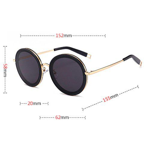 Hot Hollow Out Leg Anti UV Round Sunglasses - GOLD FRAME + PINK LENS  Mobile