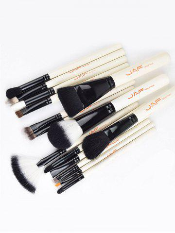 Affordable Beauty Makeup Brushes Set - WHITE  Mobile