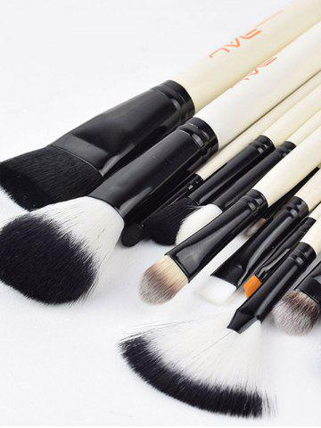 Fancy Beauty Makeup Brushes Set - WHITE  Mobile