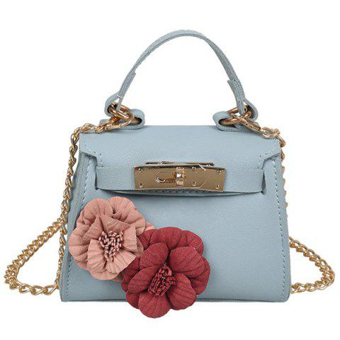 Store Flowers Chain Cross Body Bag BLUE