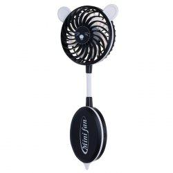 Strong Wind Mute USB Folding Cute Ear Design Handheld Fan