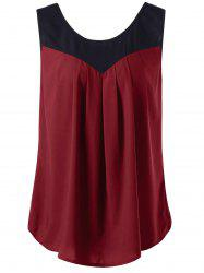 Curved Plus Size Two Tone Tank Top