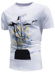Christ the Redeemer Statue Color Changing T-shirt