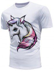 Horse Print Color Changing Short Sleeve T-Shirt