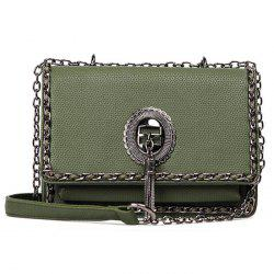 Chains Trimmed Tassel Crossbody Bag