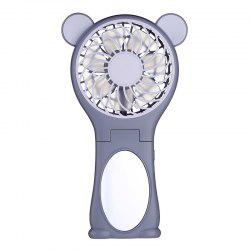 Bear Ear Design Mirror Folding Handheld USB Fan