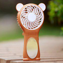 Bear Ear Design Miroir Folding Handheld USB Fan -