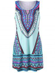 Tribal Print Sleeveless Tank Dress