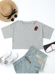 Patched Cut Out Short Top -