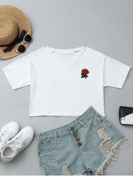 Patched Cut Out Short Top