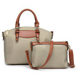2 Pieces Nylon Handbag Set