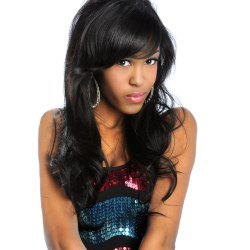 Dull Rayon Side Bang Shaggy Long Wavy Party Synthetic Wig