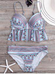 Ruffled Floral Underwire Bikini Set