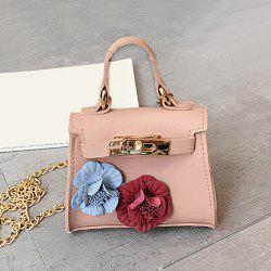Flowers Chain Cross Body Bag - PINK