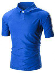 Raglan Sleeve Two Tone Polo Shirt
