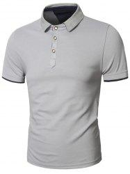 Short Sleeve Slimming Panel Polo T-Shirt