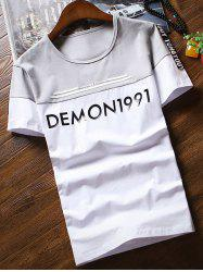 Short Sleeve Demon1991 Print T-shirt