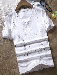 Short Sleeves Splashed Ink Printed T-shirt