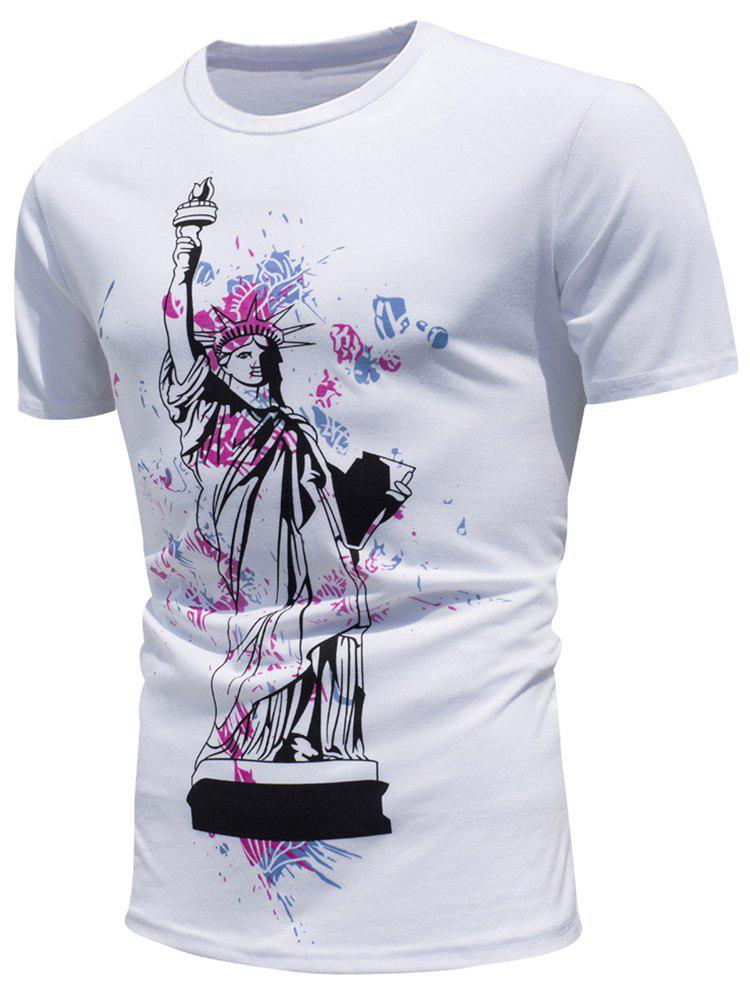 Color Changing Shirts >> 2019 Statue Of Liberty Print Color Changing T Shirt Rosegal Com