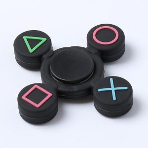 Play Station Pattern Fidget EDC Finger Spinner - BLACK 7*7*1.2CM