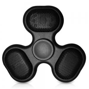 Focus Toy LED Bluetooth Speaker Musical Triangle Hand Spinner - Black