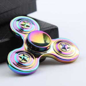 Colorful Star EDC Zinc Alloy Fidget Spinner - Colorful - 6.5*6.5*1.7cm