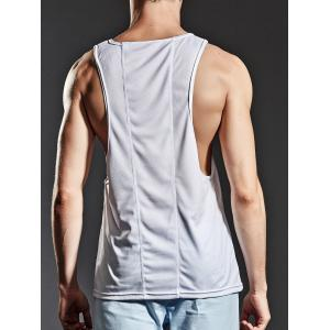 Suture Breathable Sports Tank Top - WHITE M
