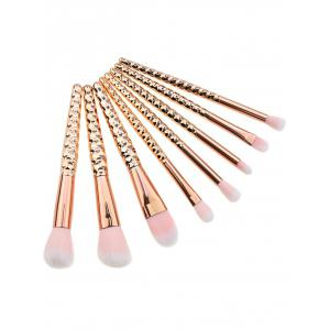 8Pcs Multifunction Honeycomb Handle Design Makeup Brushes Set - ROSE GOLD