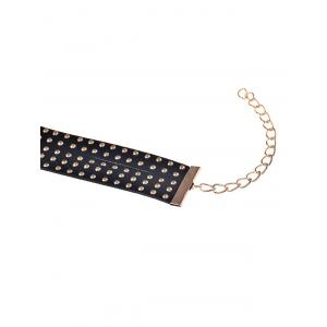 1PC Wide Rivet Multilayered Anklet - GOLDEN