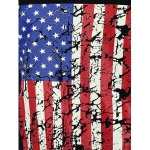 4th of July Muscle American Flag Tank Top - BLACK M