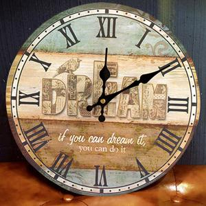 Dream Wood Analog Round Wall Clock - Multicolore 30*30cm