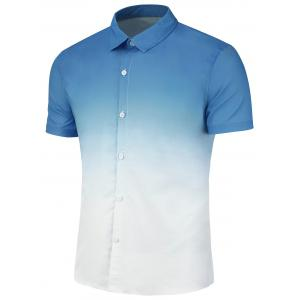 Ombre Print Slim Fit Casual Shirt