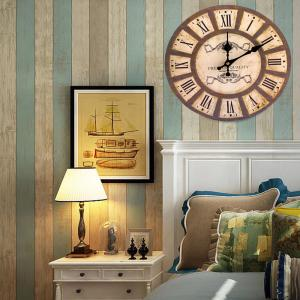 Home Decoration Analog Wood Wall Clock -