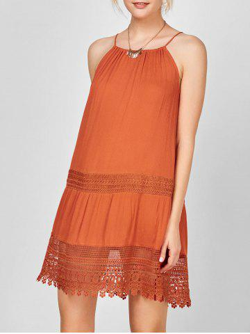 Fashion Lace Trim Bohemian Slip Dress