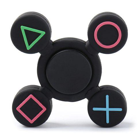Sale Play Station Pattern Fidget EDC Finger Spinner BLACK 7*7*1.2CM