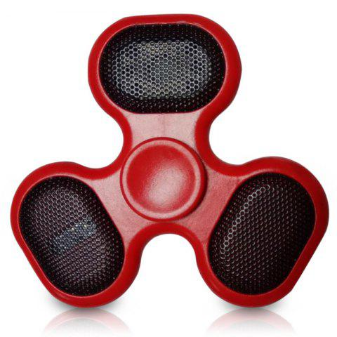 Shops Focus Toy LED Bluetooth Speaker Musical Triangle Hand Spinner RED