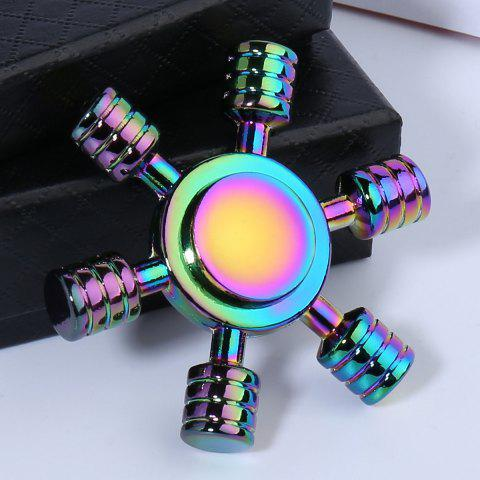Hot Rainbow Zinc AlloyEDC Hand Spinner Fidget Toy COLORFUL 6.2*6.2*1.5CM