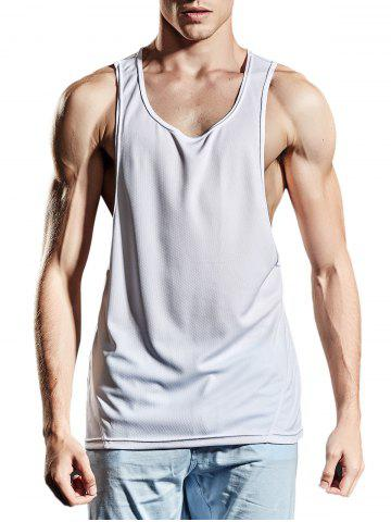 Discount Suture Breathable Sports Tank Top WHITE M