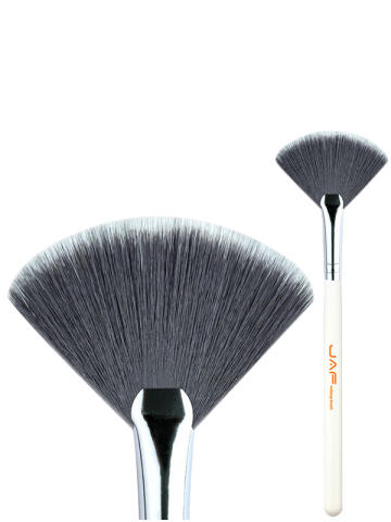 Best Makeup Tools Fan Brush - WHITE  Mobile