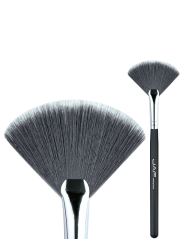 Outfits Makeup Tools Fan Brush - BLACK  Mobile