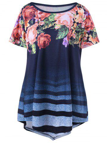 Discount Ombre Floral Plus Size Tunic