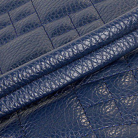 Trendy Chain Quilted 5 Pieces Handbag Set - BLUE  Mobile