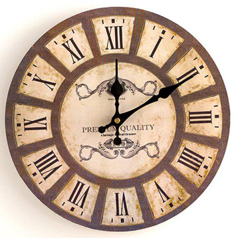 Fancy Home Decoration Analog Wood Wall Clock WOOD