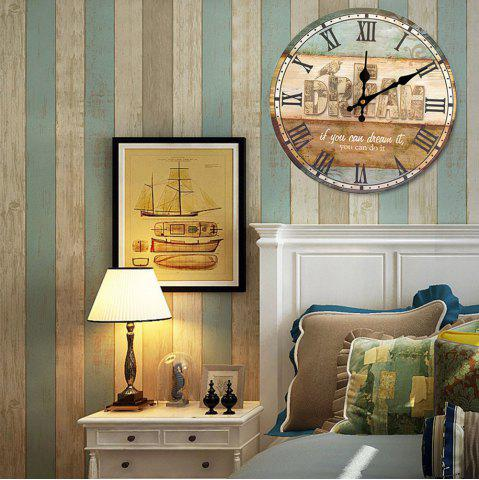 Shops Dream Wood Analog Round Wall Clock - COLORMIX  Mobile