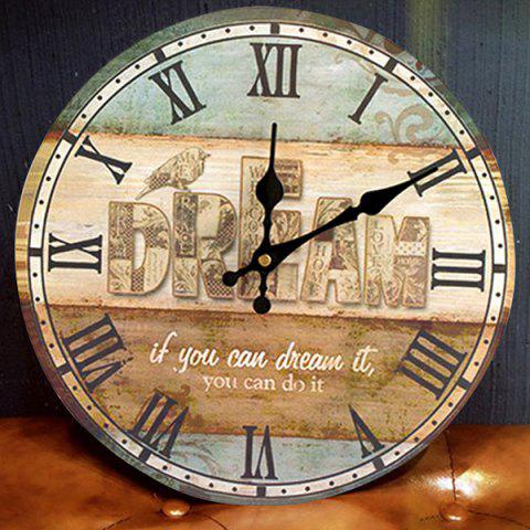Outfit Dream Wood Analog Round Wall Clock - COLORMIX  Mobile