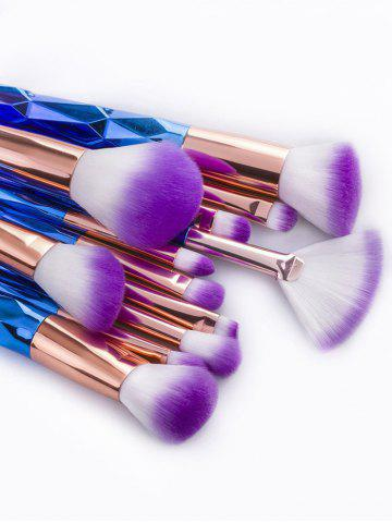 Unique 12Pcs Taper Angular Fancy Gradient Color Makeup Brushes Set - BLUE VIOLET  Mobile